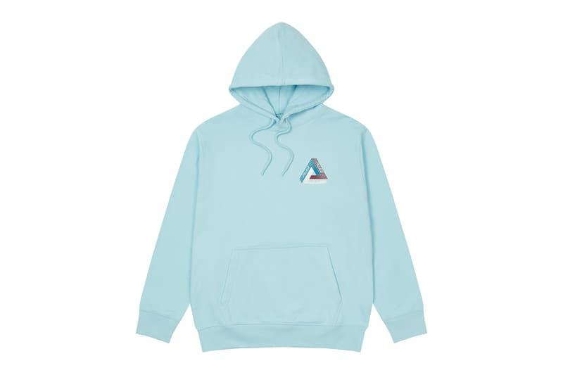 palace skateboards logo hoodies holiday drop 6 sky blue