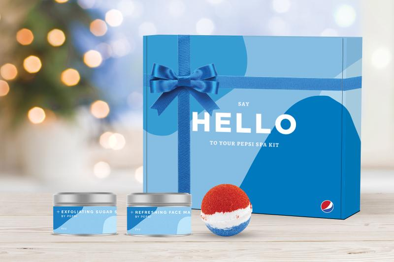 Pepsi Drops Cola-Scented Bath Bomb and Spa Kit Face Mask Body Scrub Soda Limited Edition Competition