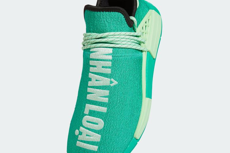 pharrell williams adidas originals pw hu nmd collaboration sneakers mint green new colorway sneakerhead footwear shoes