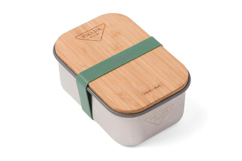 prada black and blum lunch sandwich boxes logo stainless steel sustainable wooden