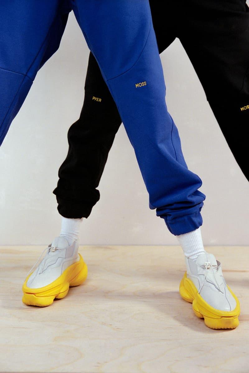 pyer moss kerby jean raymond sculpt chunky sneaker unisex tan yellow colorway footwear sneakerhead tee shoes