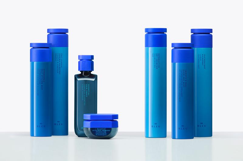 r co bleu sustainable haircare collection shampoo conditioner hair spray mask