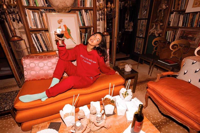 Sarah Bahbah Lazy Cake Loungewear Wine Sweatsuit