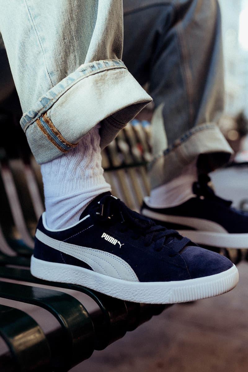 shavone puma collaboration suede vintage vtg sneakers red blue colorway sneakerhead shoes footwear