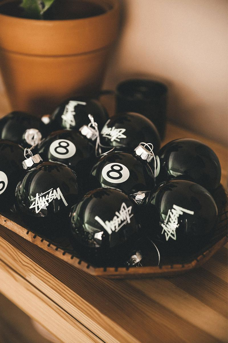 best holiday christmas gifts streetwear lovers stussy tree ornaments