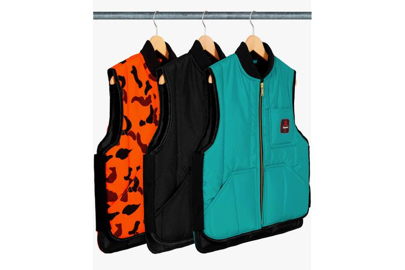 supreme fall winter week 15 box logo hoodies refrigiwear vests jackets jeans fleece caps release