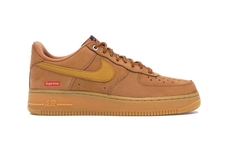 supreme nike air force 1 af1 low collaboration flax tan brown 2021 release rumors