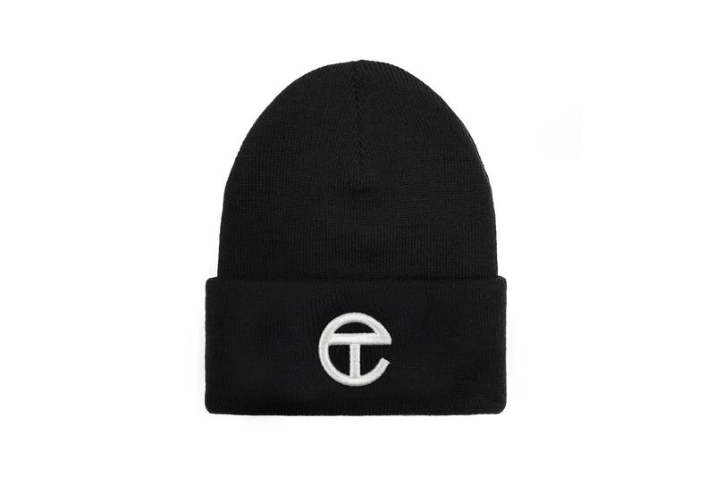 Telfar Logo Beanie Black White Hat