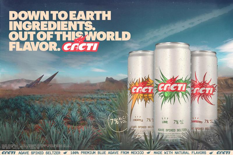 Travis Scott CACTI Agave Spiked Seltzer Brand Alcohol Flavors Can