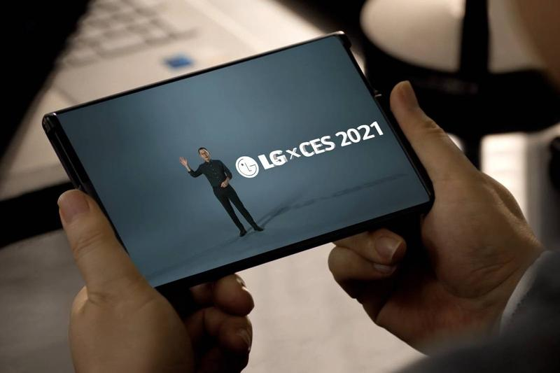 lg electronics rollable phone expanding extending display screen ces 2021 presentation video