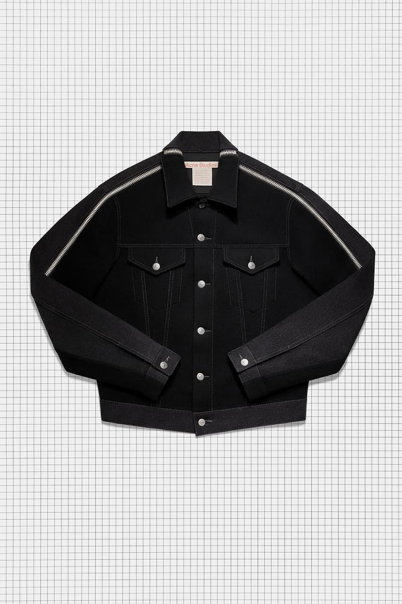 acne studios repurposed collection season 2 drop denim jacket oversized black