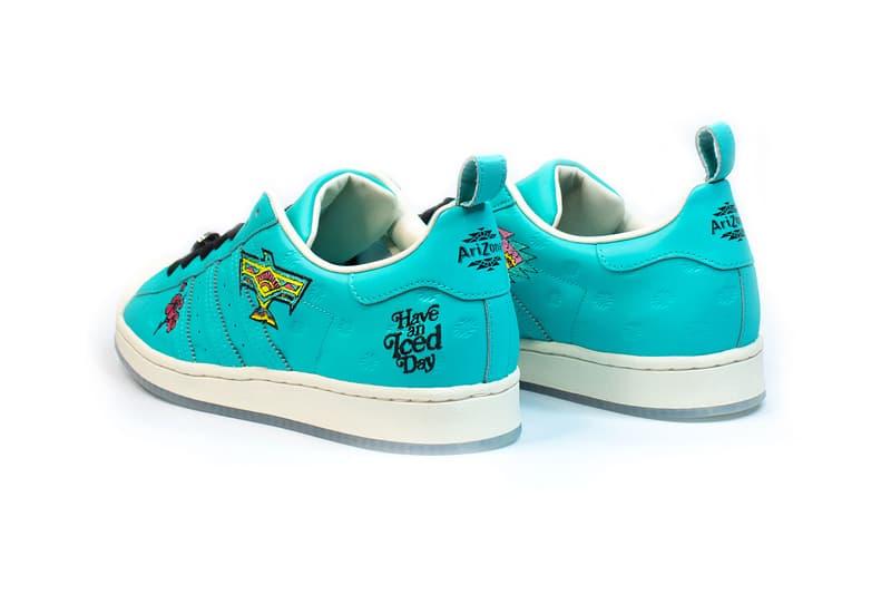 adidas originals arizona iced tea superstar collaboration sneakers big cans heel blue black white