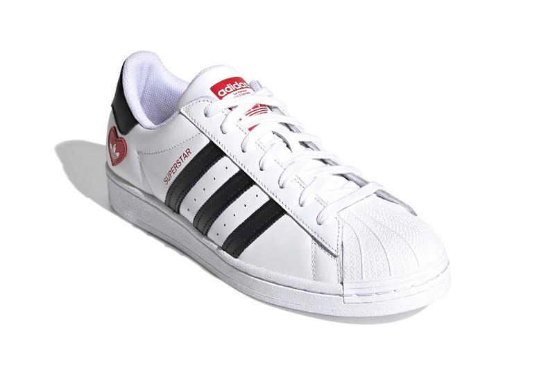 adidas Originals Superstar Valentine's Day White Red Black