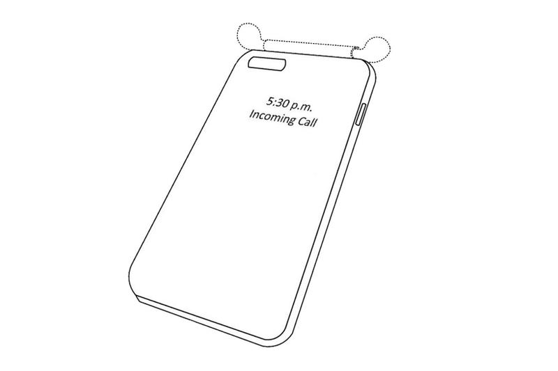 apple iphone case airpods charging built-in integrated design mock-up illustration drawing