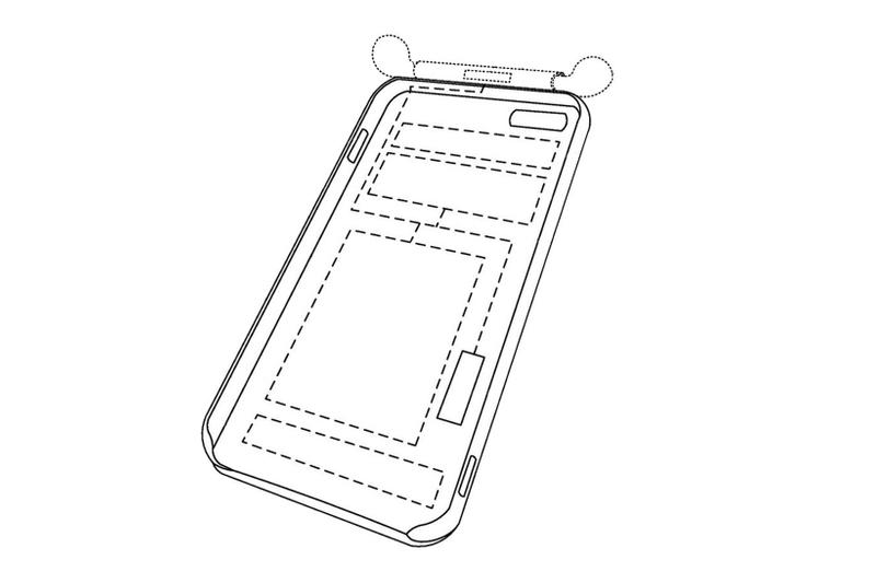 apple iphone case airpods charging built-in integrated design mock-up structure parts cover