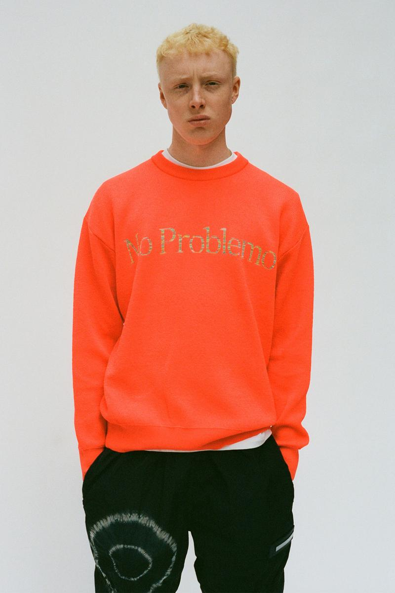aries spring summer ss21 collection lookbook orange sweater no problem