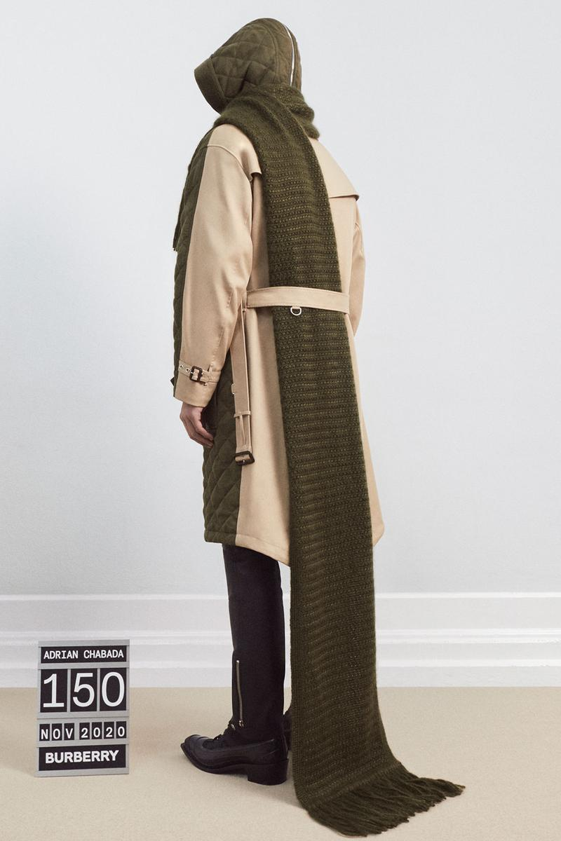 burberrys future archive capsule limited edition collection campaign adrian chabada trench coat
