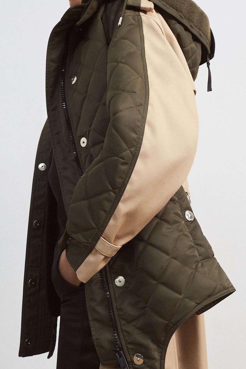 burberrys future archive capsule limited edition collection campaign khaki quilted