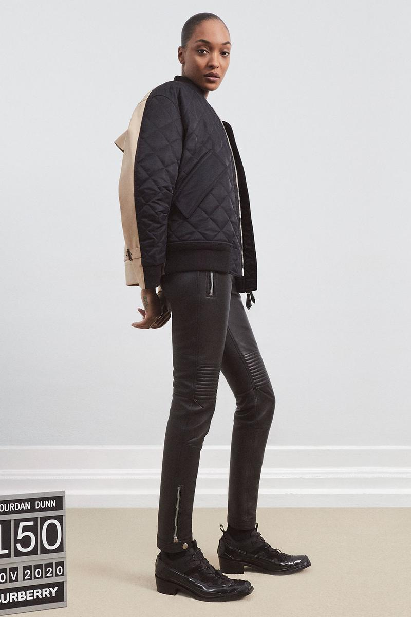 burberrys future archive capsule limited edition collection campaign jourdan dunn