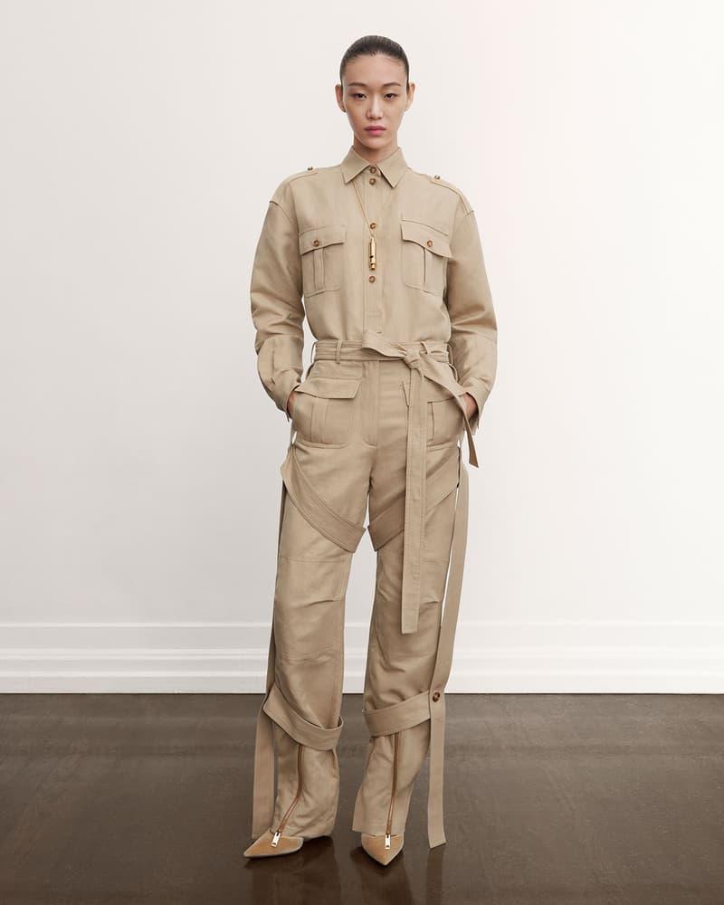burberry fall winter fw21 pre-collection riccardo tisci beige jumpsuit sora choi