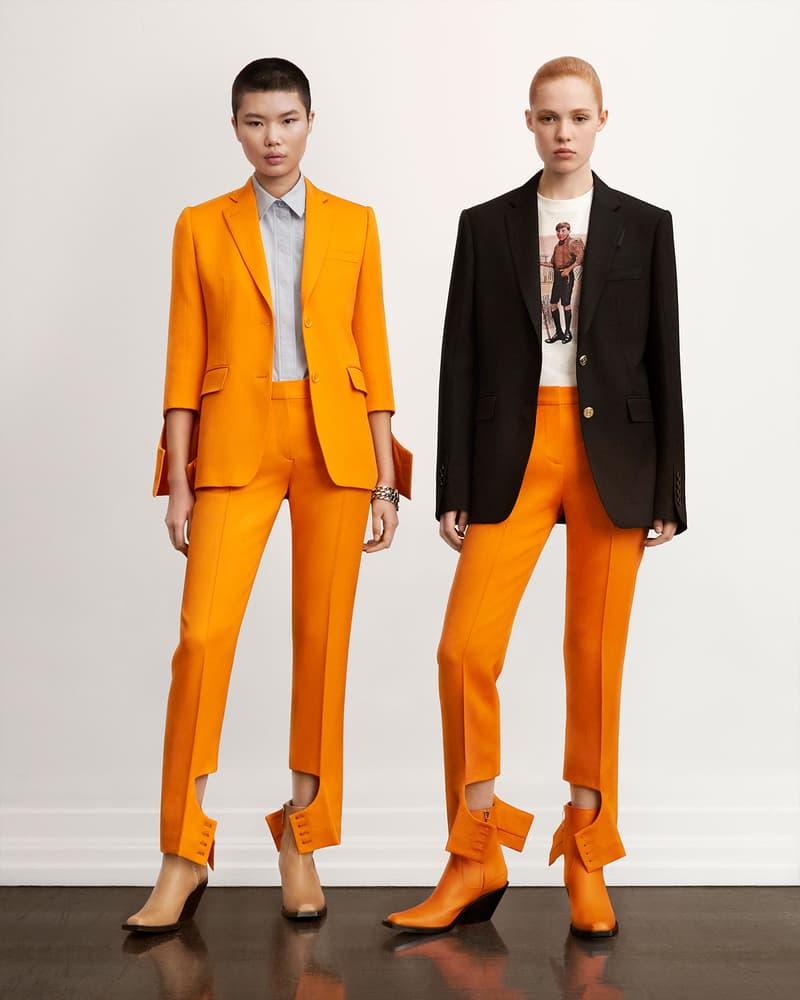 burberry fall winter fw21 pre-collection riccardo tisci orange pantsuit blazer jacket