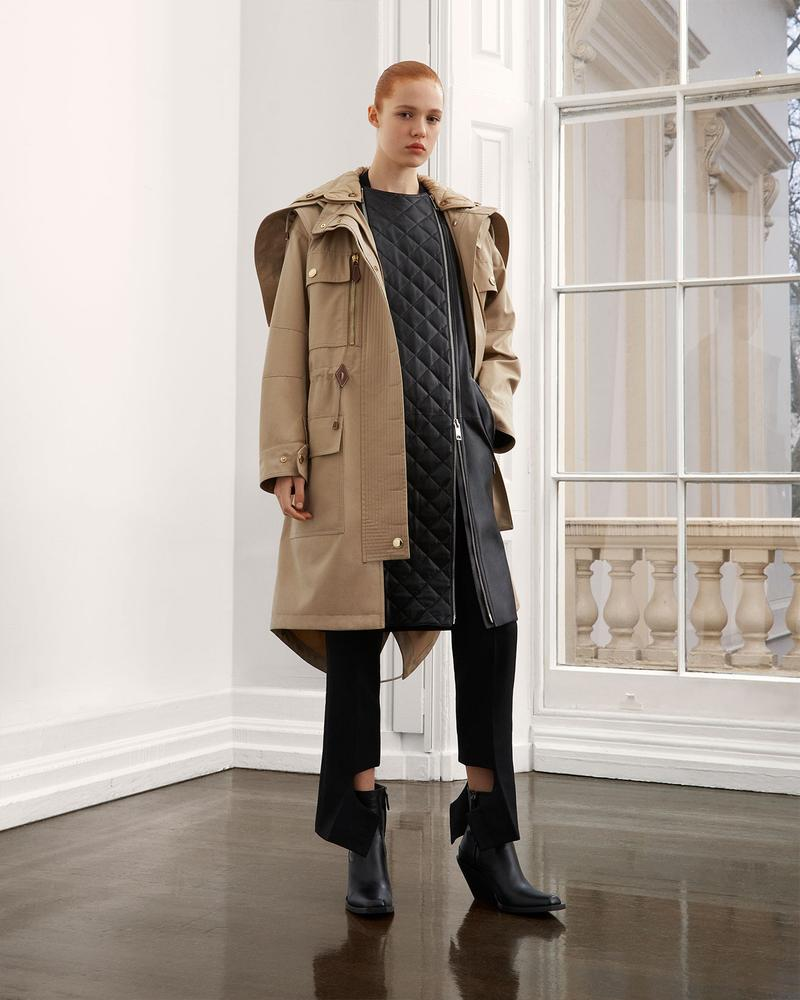 burberry fall winter fw21 pre-collection riccardo tisci beige trench coat outerwear