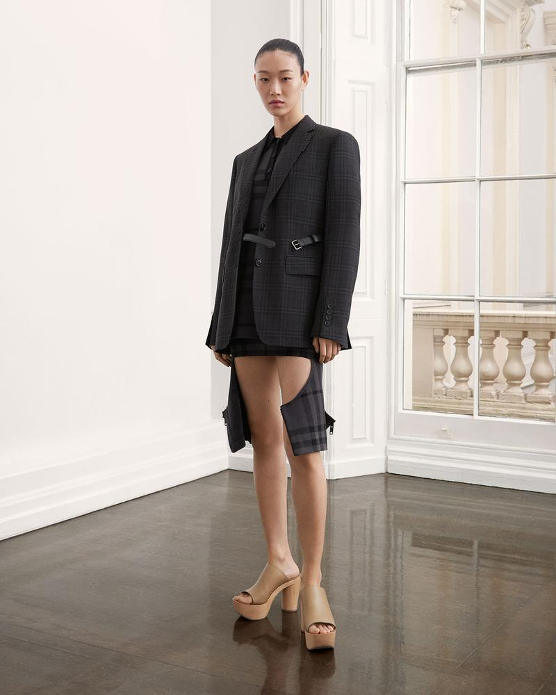 burberry fall winter fw21 pre-collection riccardo tisci plaid check blazer jacket