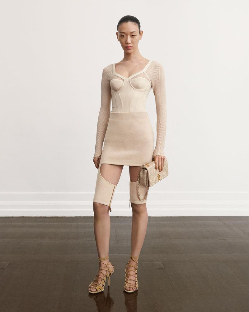 burberry fall winter fw21 pre-collection riccardo tisci ribbed knit mini dress