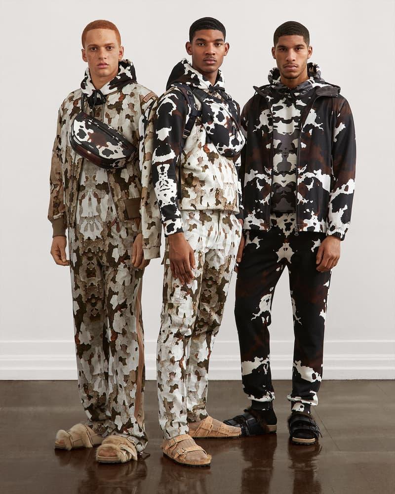 burberry fall winter fw21 pre-collection riccardo tisci camo print menswear jacket trousers