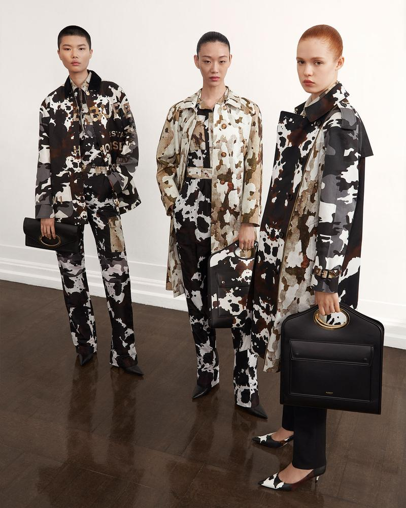 burberry fall winter fw21 pre-collection riccardo tisci camo print trousers jacket shirt