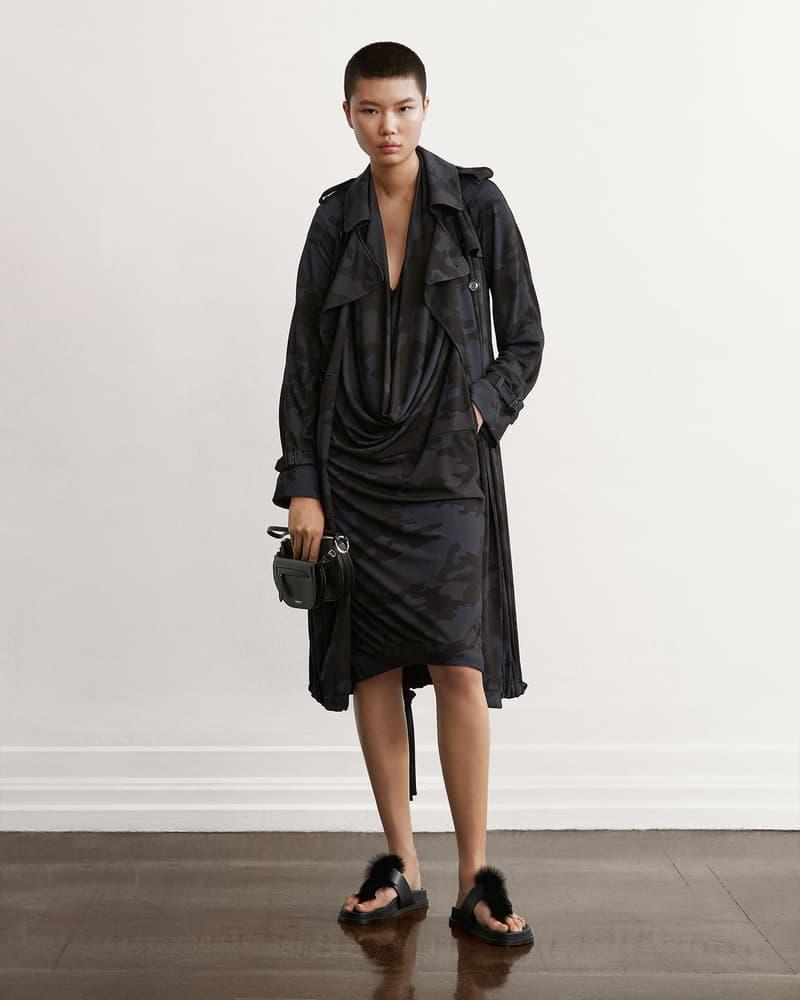 burberry fall winter fw21 pre-collection riccardo tisci camo print black dress