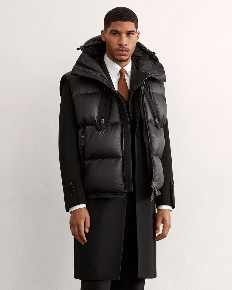 burberry fall winter fw21 pre-collection riccardo tisci black puffer vest coat
