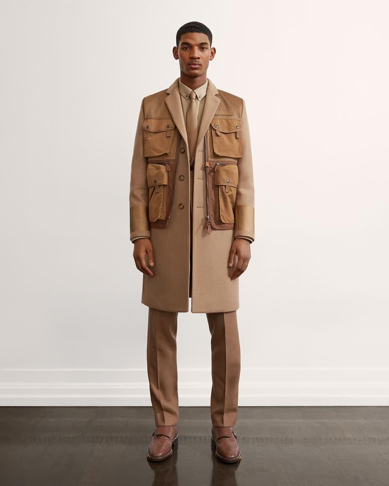 burberry fall winter fw21 pre-collection riccardo tisci brown vest beige coat