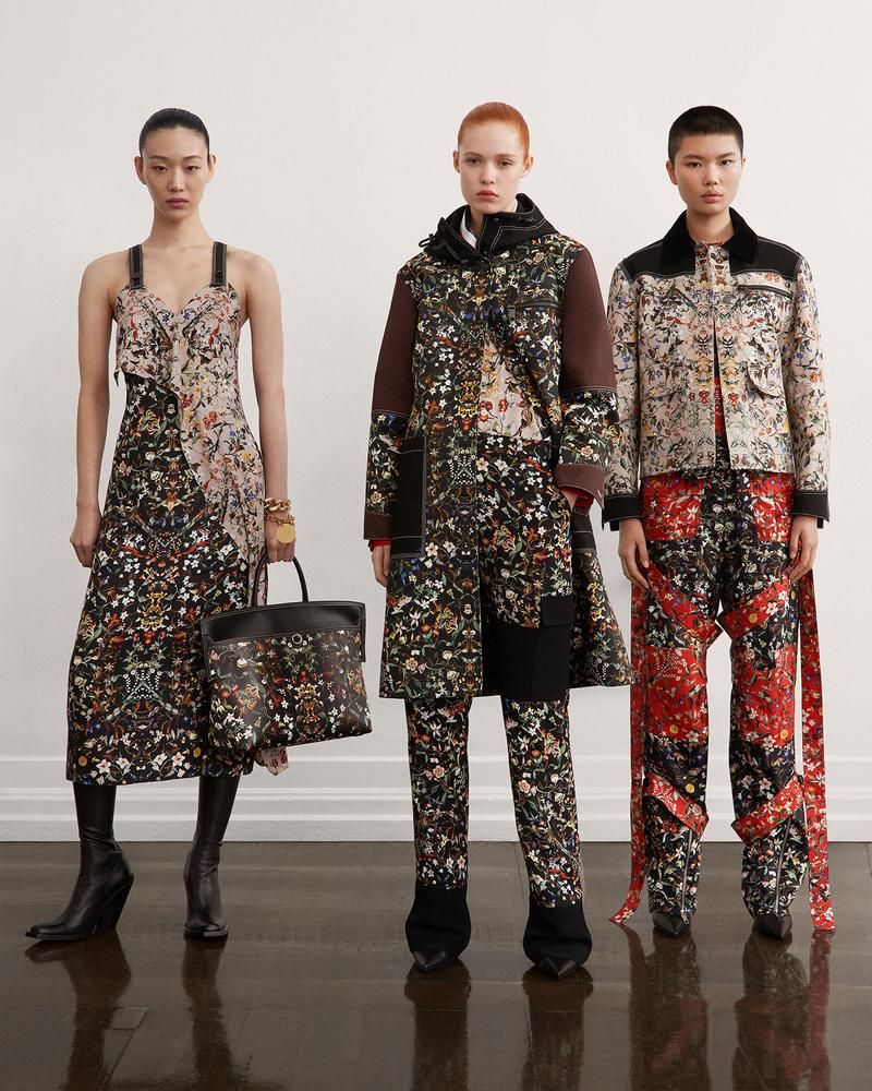 burberry fall winter fw21 pre-collection riccardo tisci floral print pants jacket dress
