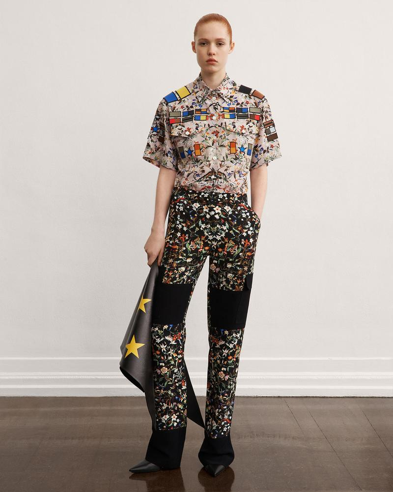 burberry fall winter fw21 pre-collection riccardo tisci floral print trousers stars