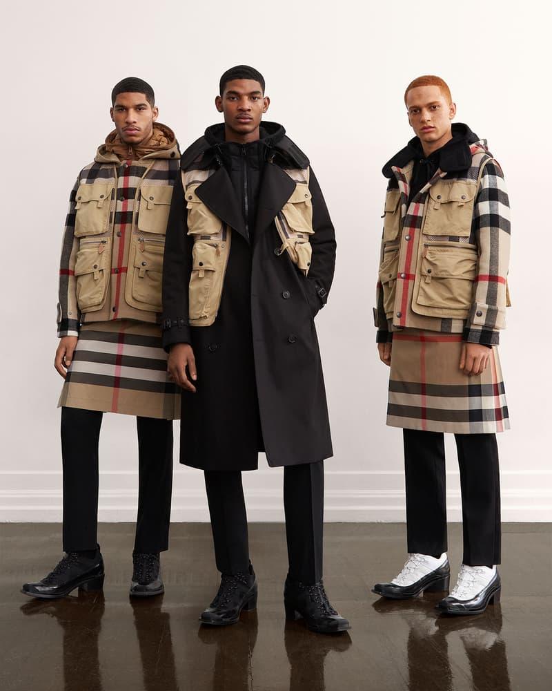 burberry fall winter fw21 pre-collection riccardo tisci plaid check coat vest