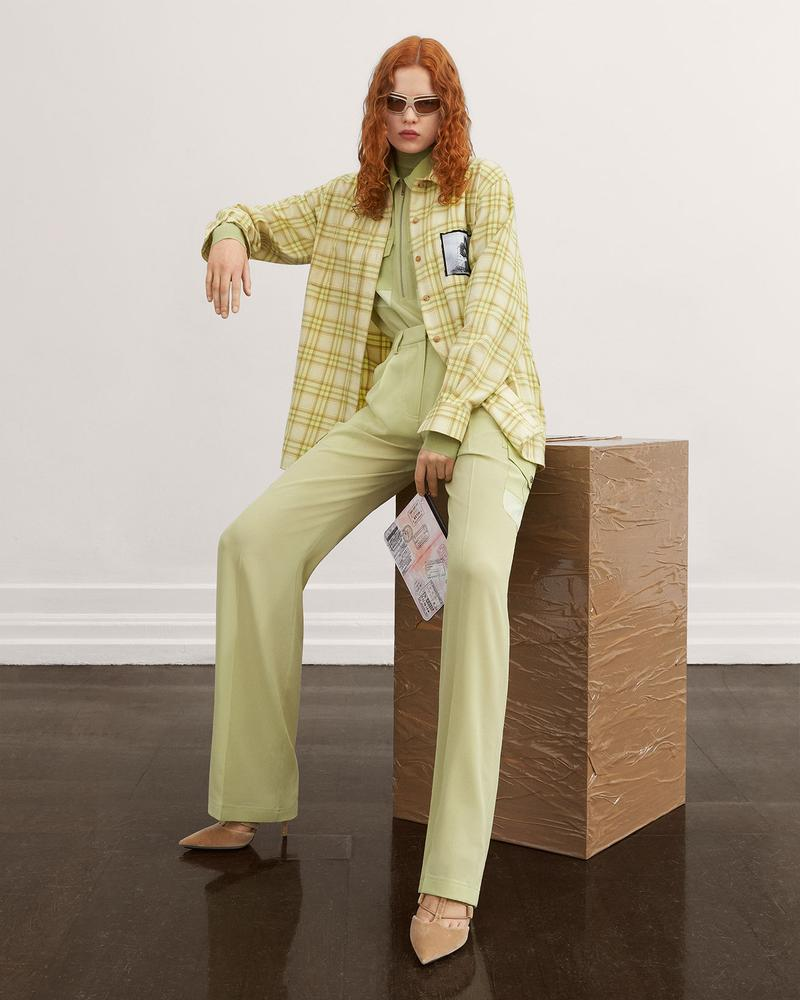 burberry fall winter fw21 pre-collection riccardo tisci plaid check shirt trousers pants
