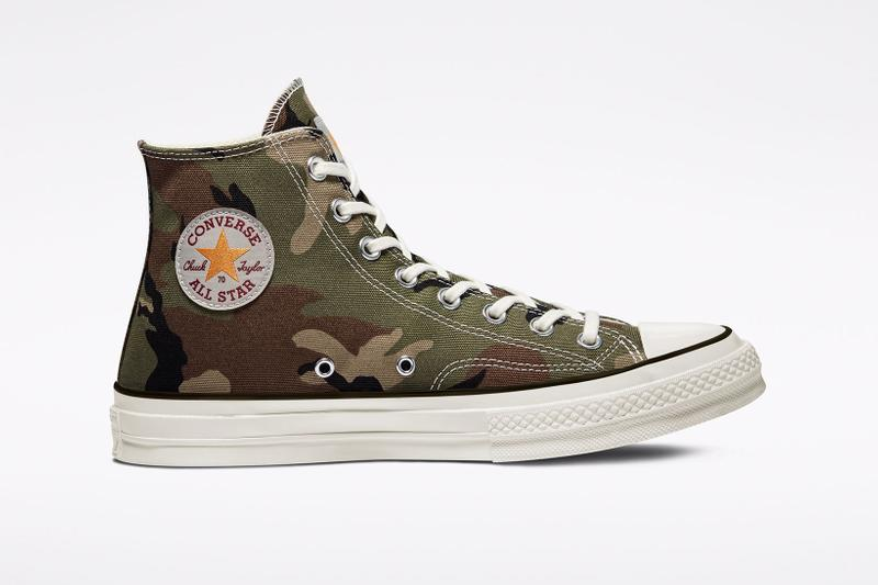 carhartt wip converse chuck 70 icons collaboration sneakers camo lateral logo