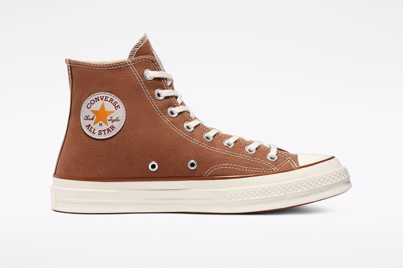carhartt wip converse chuck 70 icons collaboration sneakers hamilton brown canvas logo