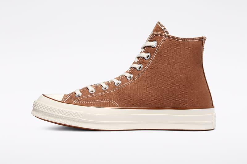 carhartt wip converse chuck 70 icons collaboration sneakers hamilton brown canvas