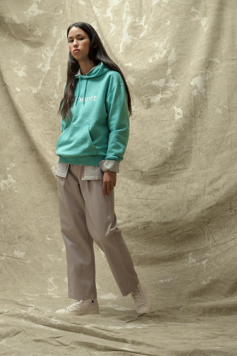 carhartt wip spring summer 2021 ss21 collection lookbook hoodie shirt trousers