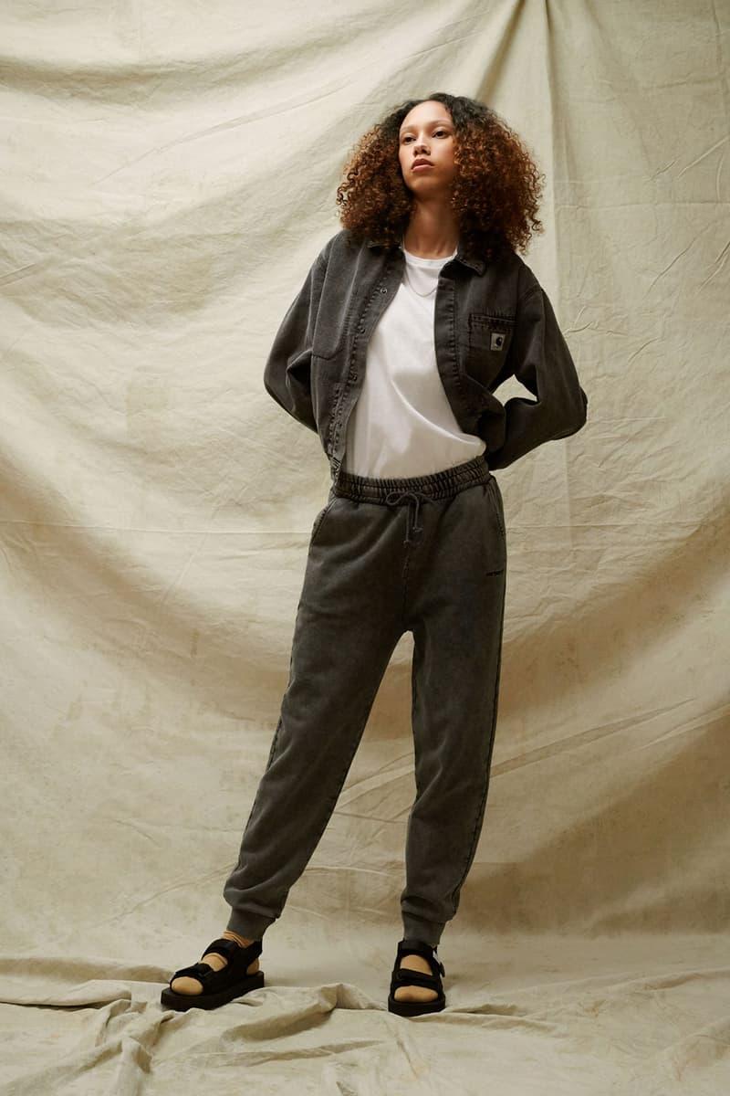 carhartt wip spring summer 2021 ss21 collection lookbook denim sweatpants logo jacket