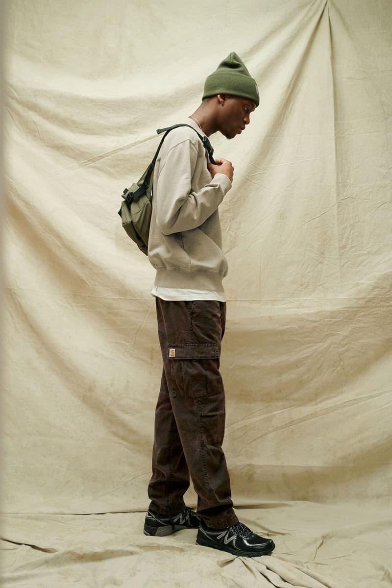 carhartt wip spring summer 2021 ss21 collection lookbook beanie sweatshirt cargo pants