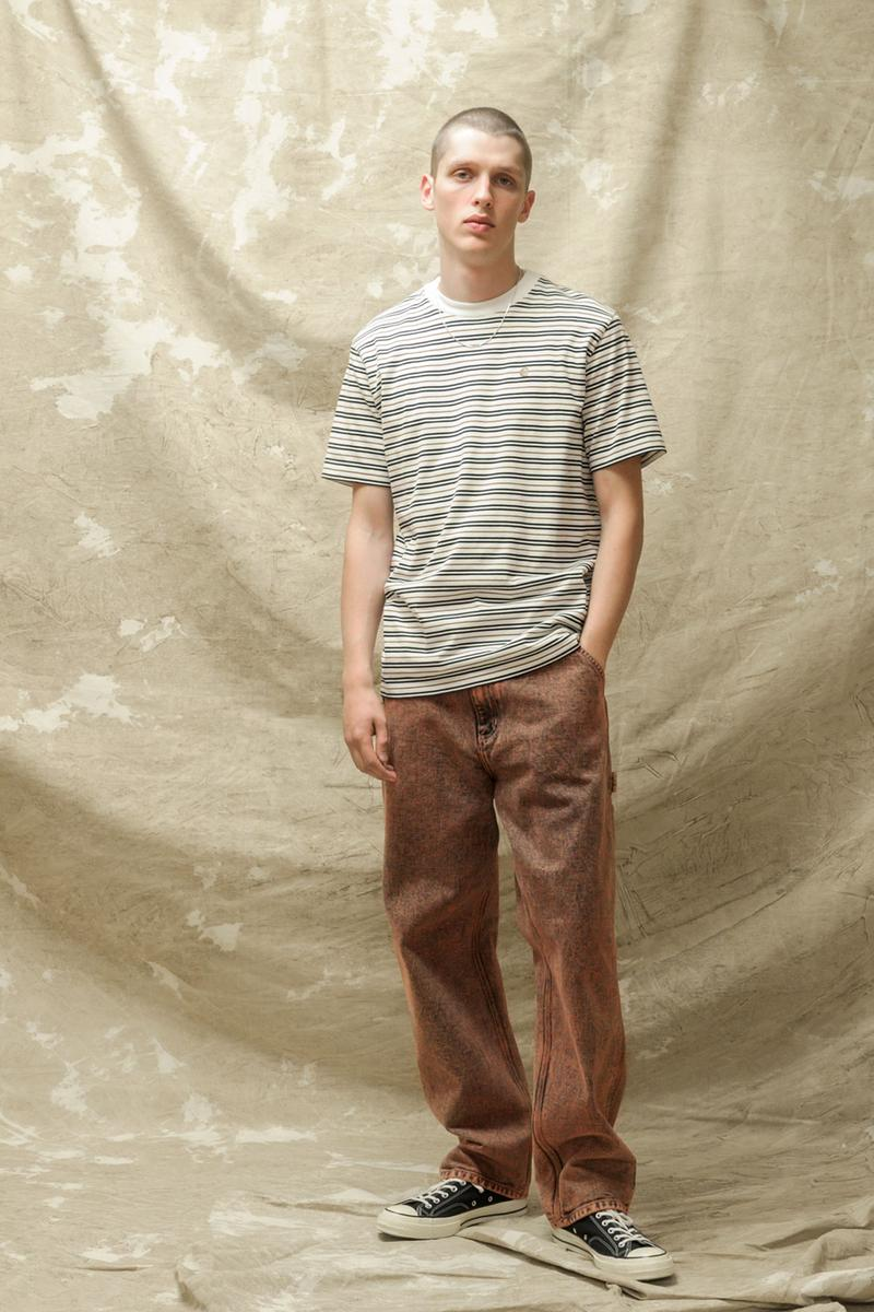 carhartt wip spring summer 2021 ss21 collection lookbook striped t-shirt washed jeans