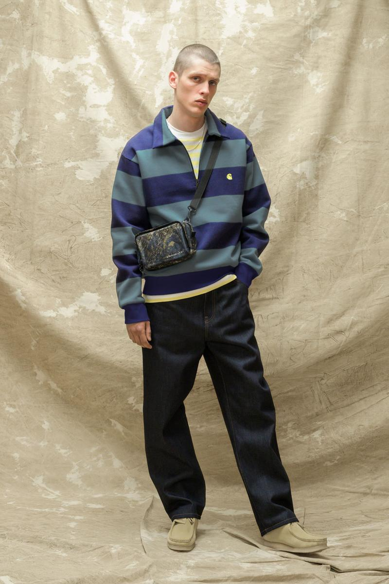 carhartt wip spring summer 2021 ss21 collection lookbook striped half zip sweater
