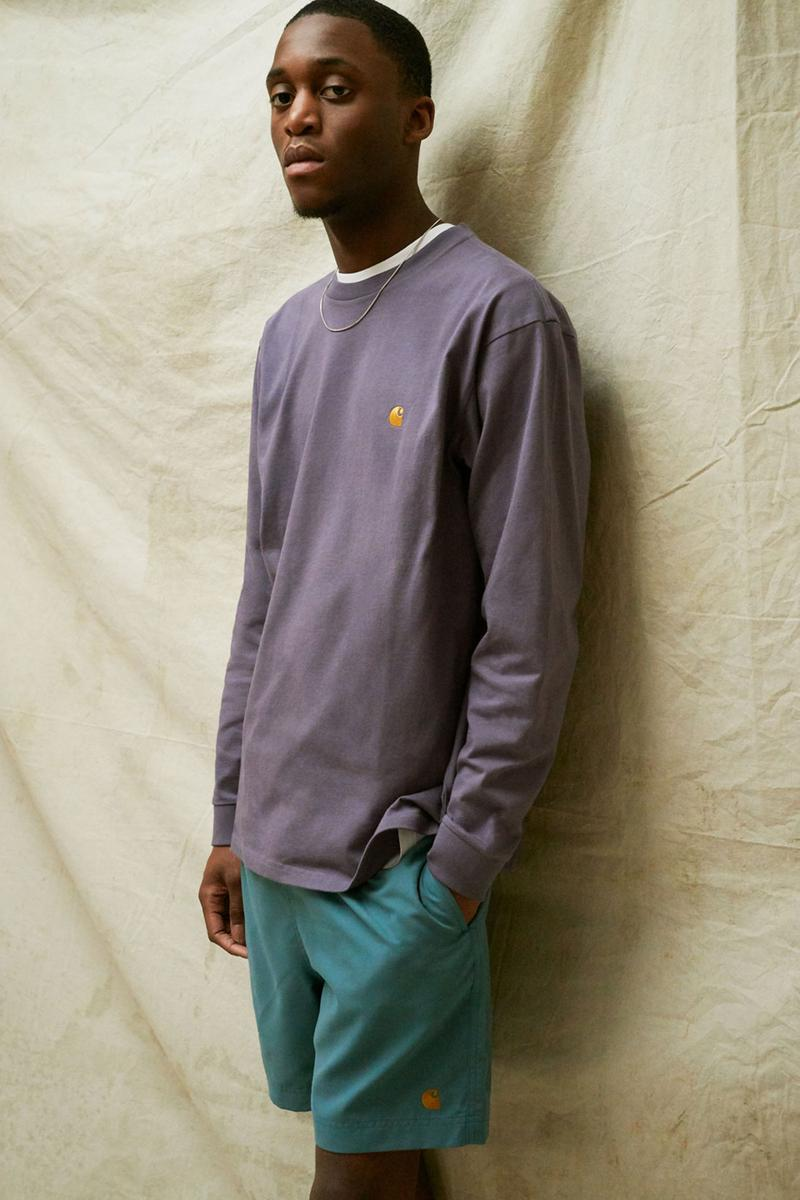 carhartt wip spring summer 2021 ss21 collection lookbook sweatshirt shorts logo