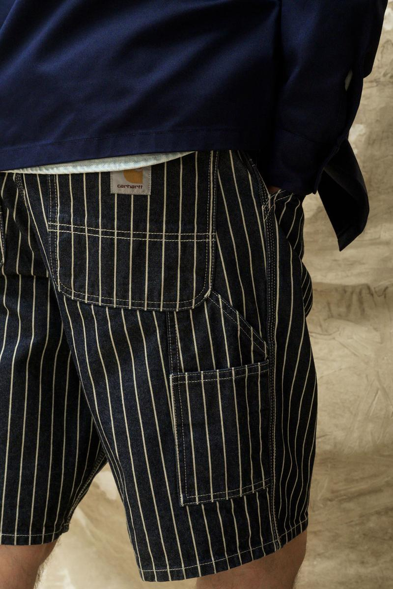 carhartt wip spring summer 2021 ss21 collection lookbook striped shorts