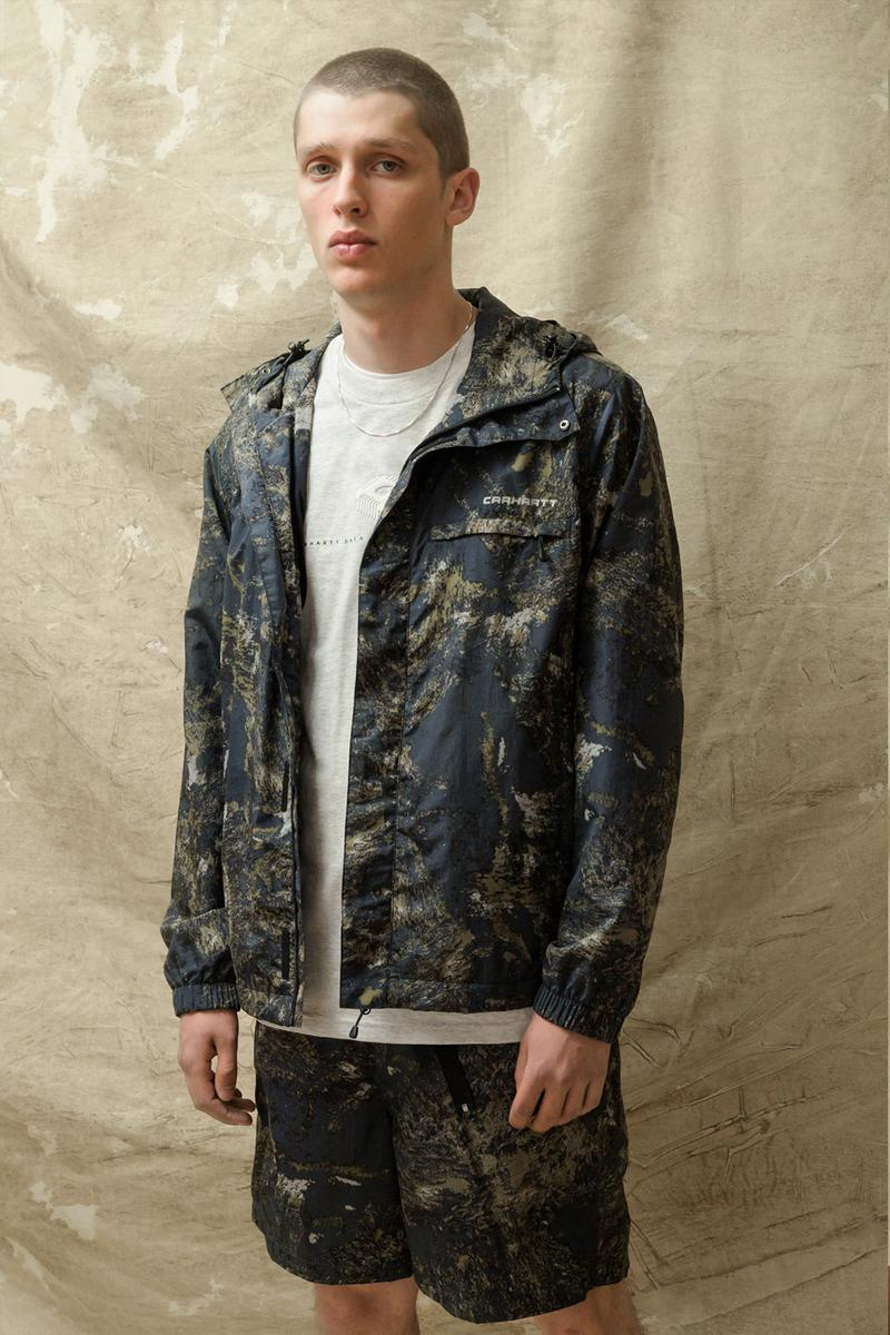 carhartt wip spring summer 2021 ss21 collection lookbook military camouflage jacket shorts