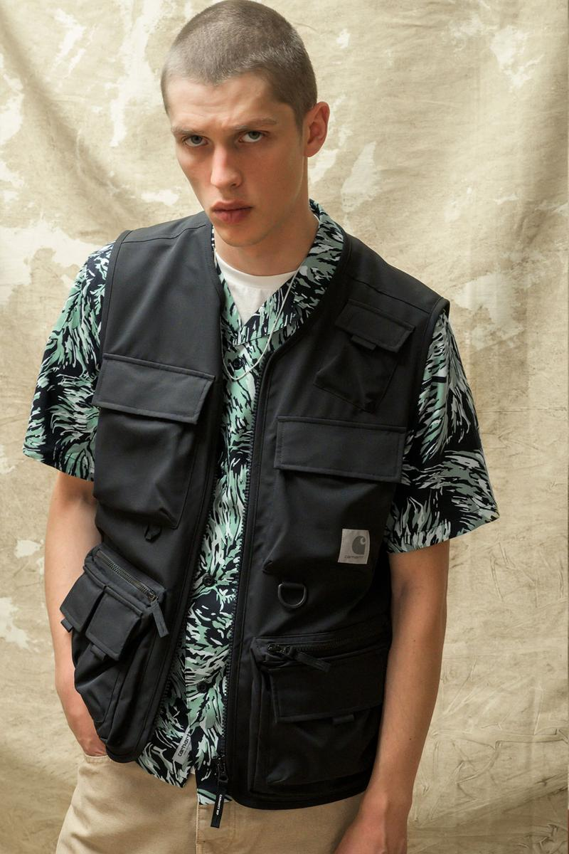 carhartt wip spring summer 2021 ss21 collection lookbook pattern short sleeve shirt utility vest