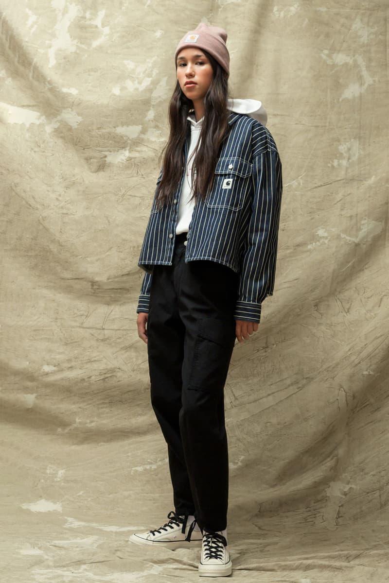 carhartt wip spring summer 2021 ss21 collection lookbook beanie hoodie striped jacket